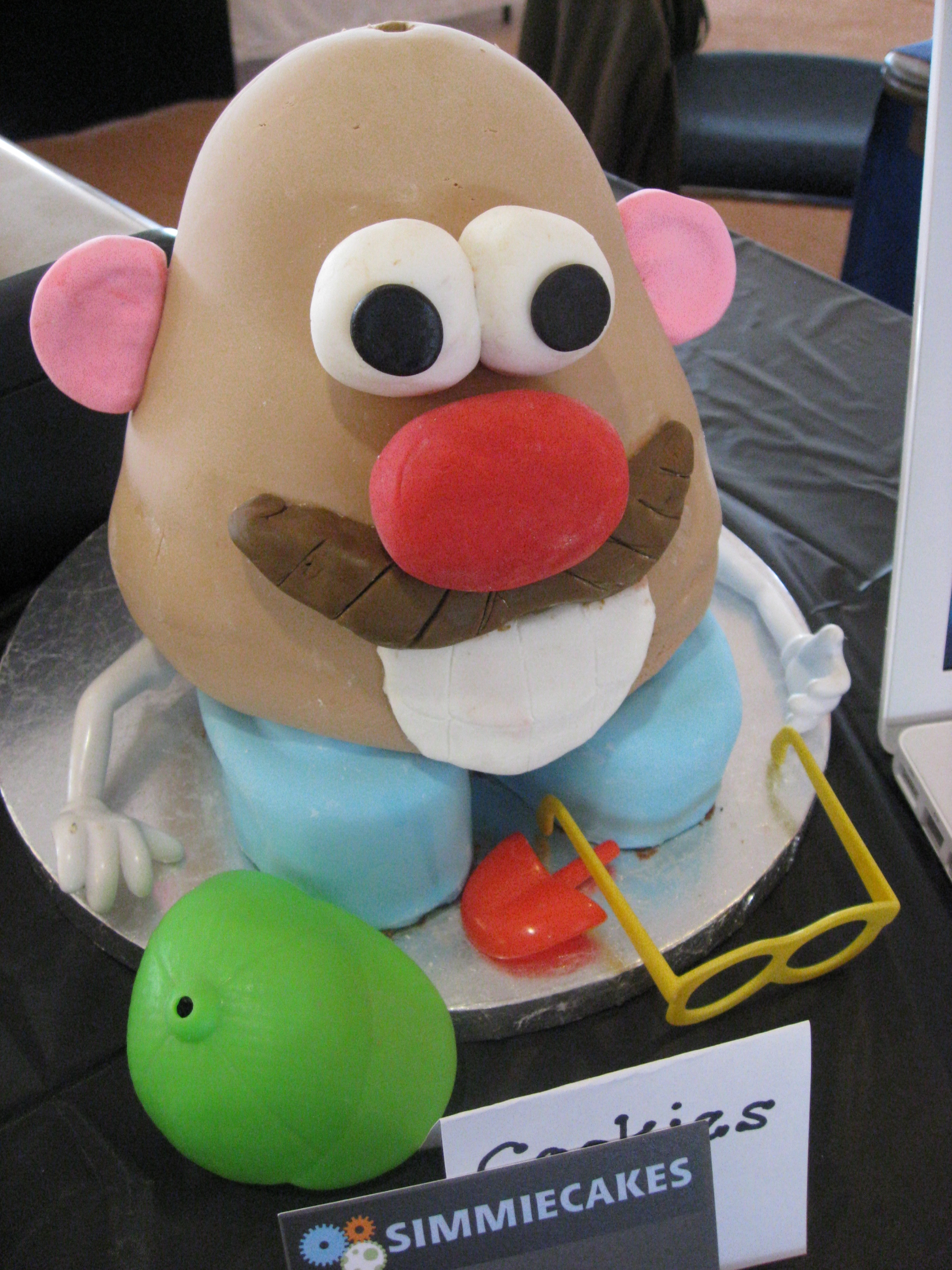 how to make a mr potato head cake