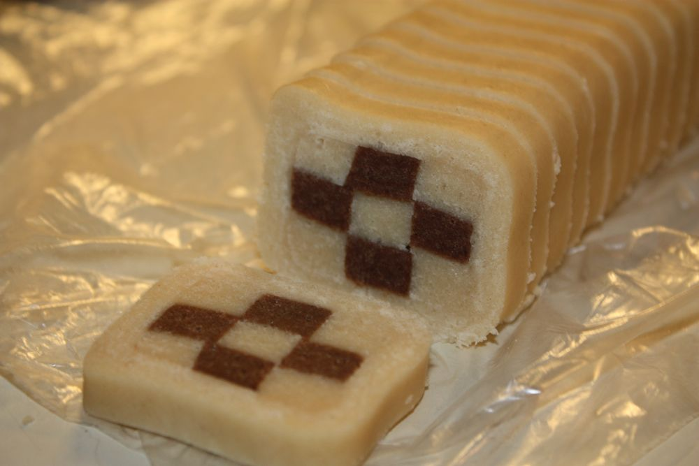 Vanilla Checkboard Slices