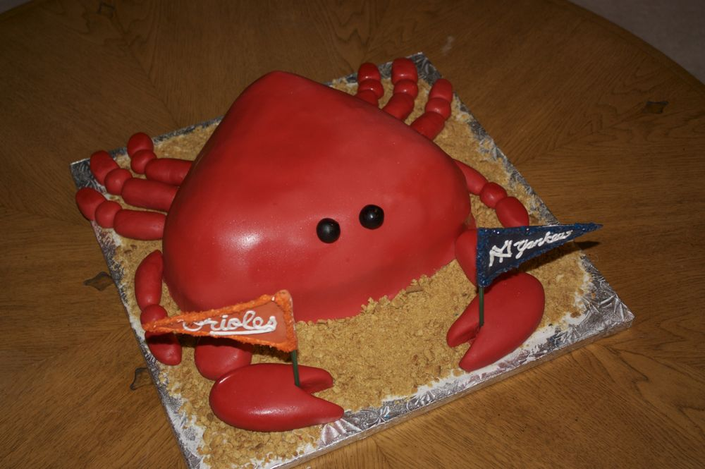 Crab Shaped Birthday Cake