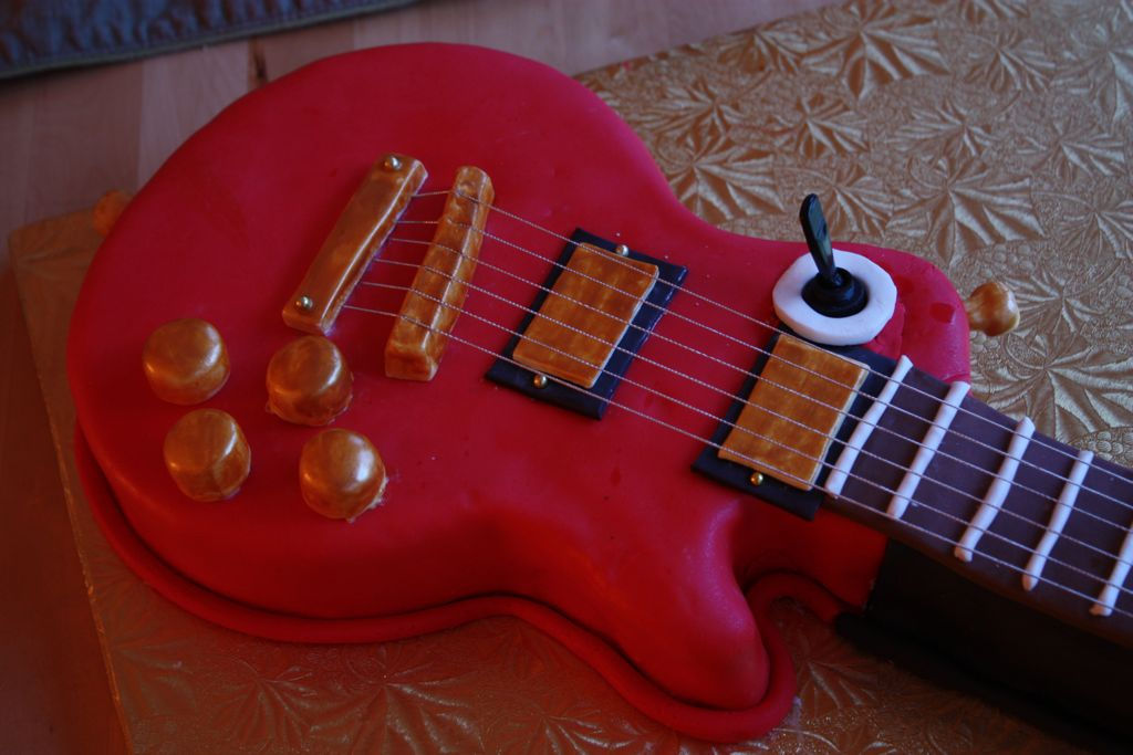 Gibson Red Birthday Cake