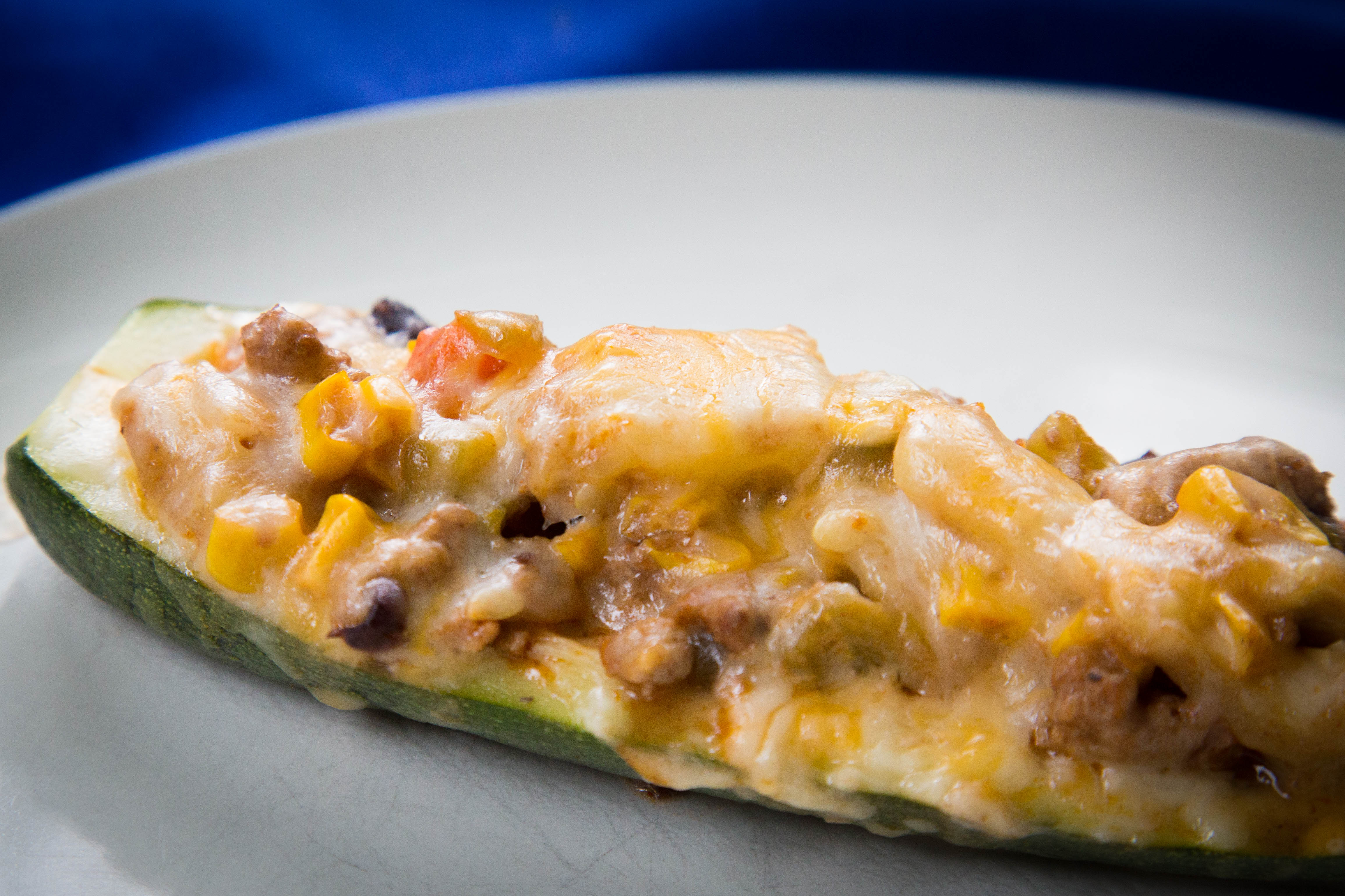 Sunday Afternoon Lunch - Enchilada Stuffed Zucchini Boats ...
